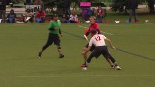 Ben Lohre saves the tipped pass (2016 Nationals - men