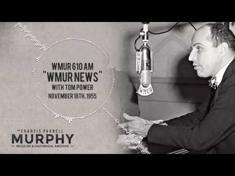 WMUR 610AM (now WGIR) Radio presents the news from November 18th, 1955 with Tom Power!