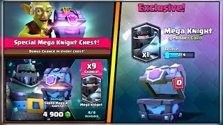 SUPER MAGICAL CHEST OPENING | CLASH ROYALE | 9X LEGENDARY MEGA KNIGHT CHANCE!