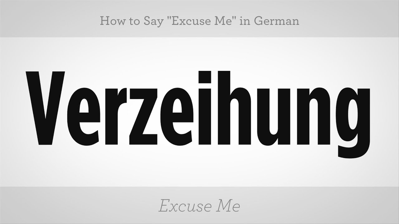 How To Say Excuse Me In German German Lessons Youtube