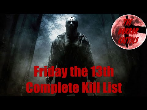 Friday The 13th, Jason Voorhees, Full Kill Count