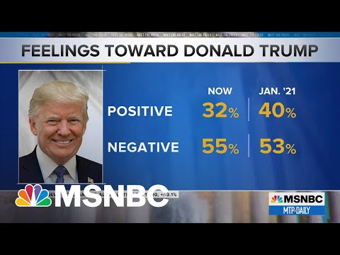 NBC News Poll: Trump's Favorability Wanes After Almost 100 Days Out Of Office | MTP Daily | MSNBC