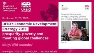 Podcast - DFID's Economic Development Strategy 2017 - Stefan Dercon - DFID's Chief Economist