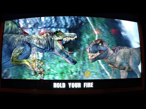Jurassic Park Arcade Game 2 Player Closed Booth Style Gun Game: Captured All 3 Dinosaurs?