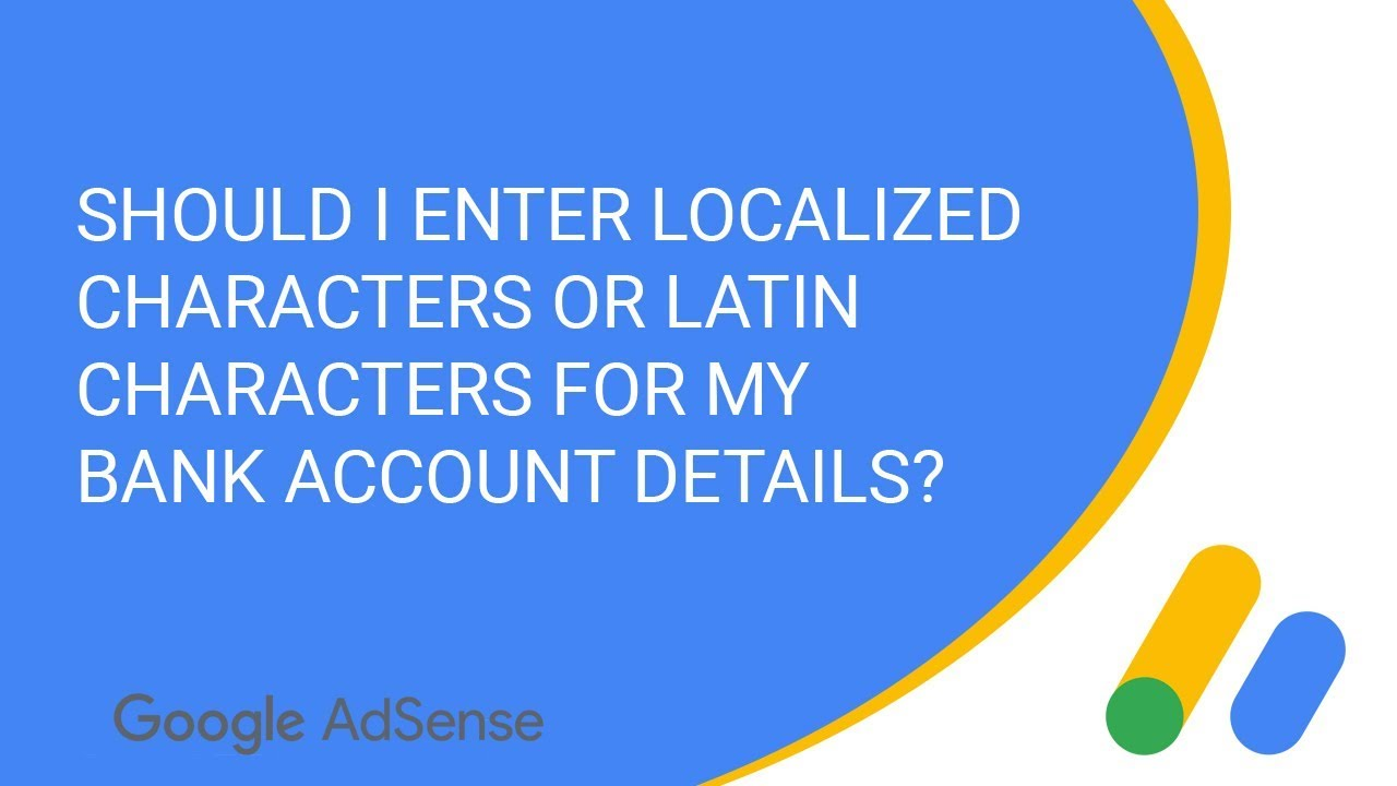 Should I enter localized characters or Latin characters for my bank account details?