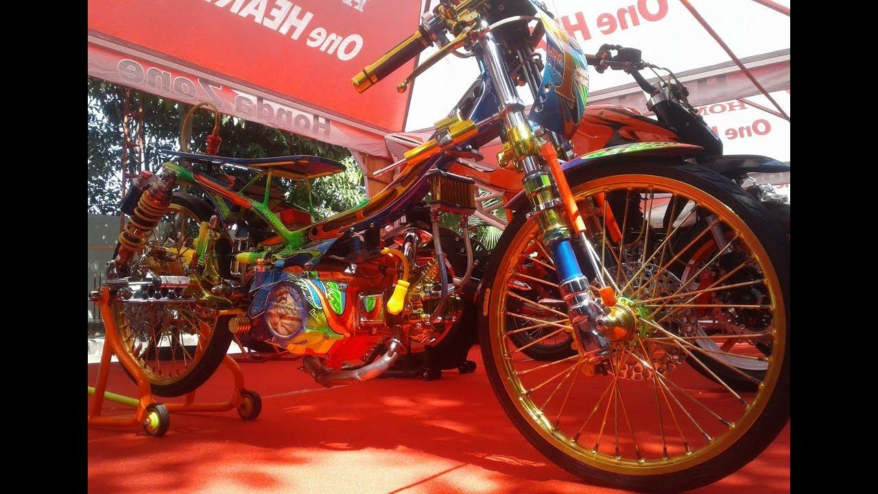 Modifikasi Drag Bike Racing Style Honda Supra Fit Thailand Look