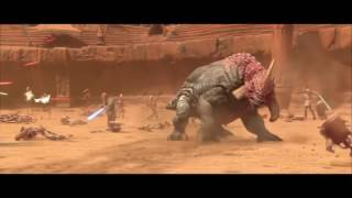 Звёздные Войны 2  Битва на Джеонозисе HD (Смерть Джанго Фетта)