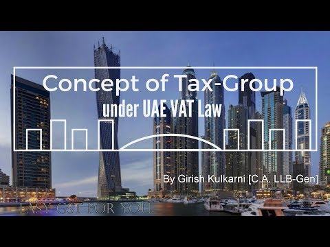 Concept of TaxGroup under UAE VAT Law