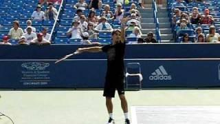 Roger Federer Second Serve in Slow Motion (210 fps)