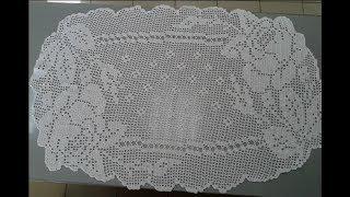 Салфетка с розами. Филейное вязание.