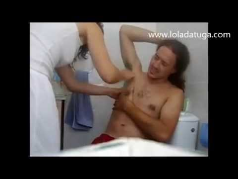 Man Shaving Underarm