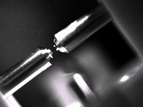 Strontium atoms in endcap RF trap