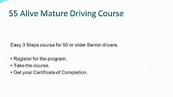 ★ 55 Alive Driving Course- Mature Driver Improvement Refresher Online Program