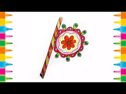 How to draw a Hand Fan  Easy Step by Step, Hand fan drawing for kids