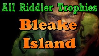 """""""Batman: Arkham Knight"""" All Riddler Trophies and Challenges in Bleake Island"""