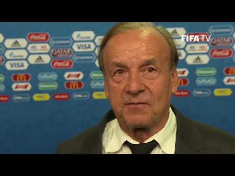 Gernot ROHR – Nigeria - Final Draw Reaction