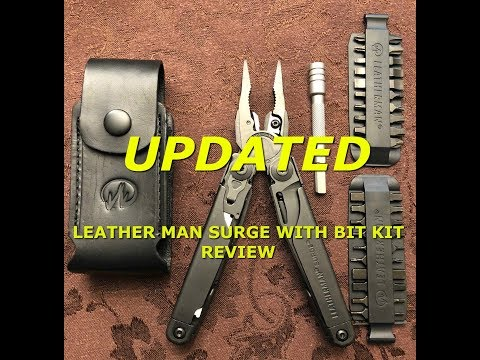 UPDATED Leatherman Surge with 42 Piece Bit Kit and Bit Extender Review