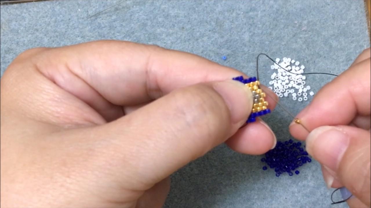 串珠DIY雜貨舖-古董珠編織教學(糖果機) - YouTube