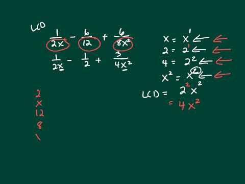 Math 1130 1 1 Find Lcd