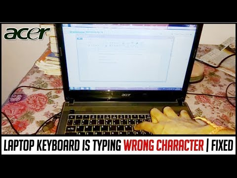 Laptop keyboard typing wrong character   How to repair Acer laptop keyboard & disable fn key from os