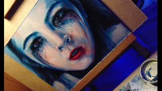 oil painting \ Orphan \