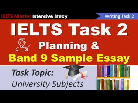 IELTS Writing Task 2 Planning and Model Essay for University Subjects