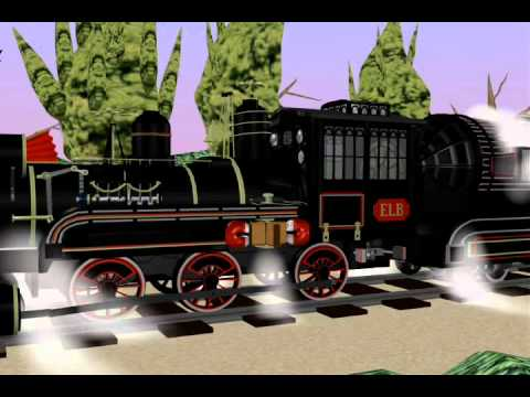 Back to the Future Time Train animation 2