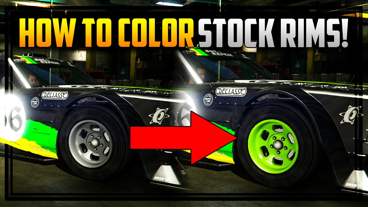 Gta Online How To Color Stock Rims Works On Drift Tampa