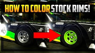 GTA 5 Online - How to Color Stock Rims! (Works on Drift Tampa, Tyrus & Many More Vehicles)