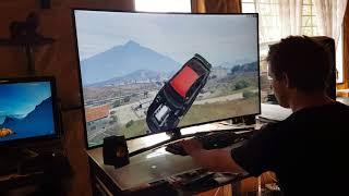 GTA 5 in 4K 60fps on Curved TV