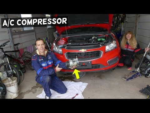 AIR CONDITIONER AC COMPRESSOR REPLACEMENT REMOVAL CHEVROLET CRUZE CHEVY SONIC