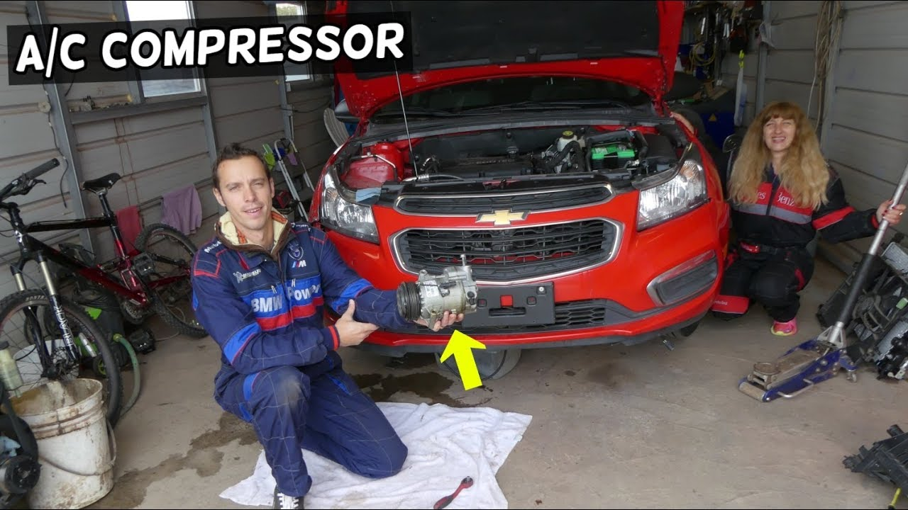 Air Conditioner Ac Compressor Replacement Removal Chevrolet Cruze Chevy Sonic Youtube