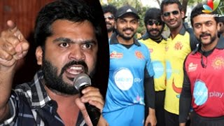 Simbu to quit Nadigar Sangam : Actors made jokers in Star Cricket