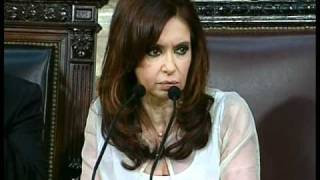 Apertura sesiones legislativas 2008. Discurso de la Presidenta Cristina Fernández