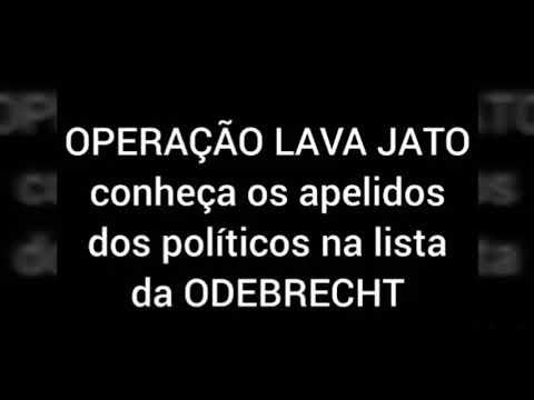 A LISTA DA ODEBRECHT