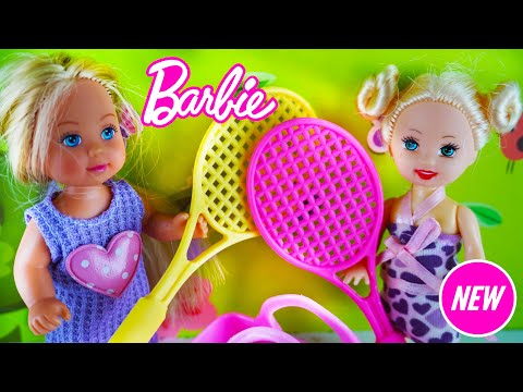 Barbie Girl Playing Tennis With Tennis Balls Barbie Indonesia Kids Toys Youtube