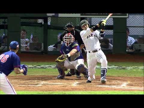 20131109 中日經典棒球賽 中華戰士VS 日本武士 2下 淺村榮斗敲出日本隊今日第一安!