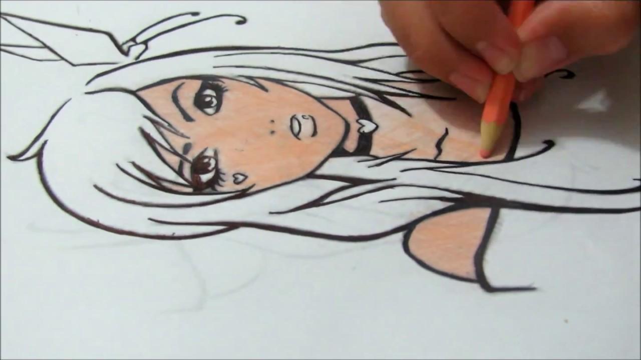 tutorial como colorir um lindo desenho em mangá youtube