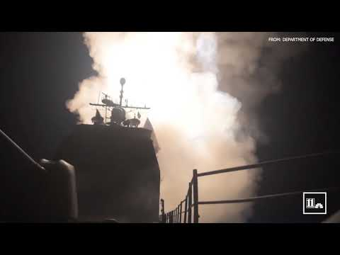 Department of Defense releases video of missile attack on Syria
