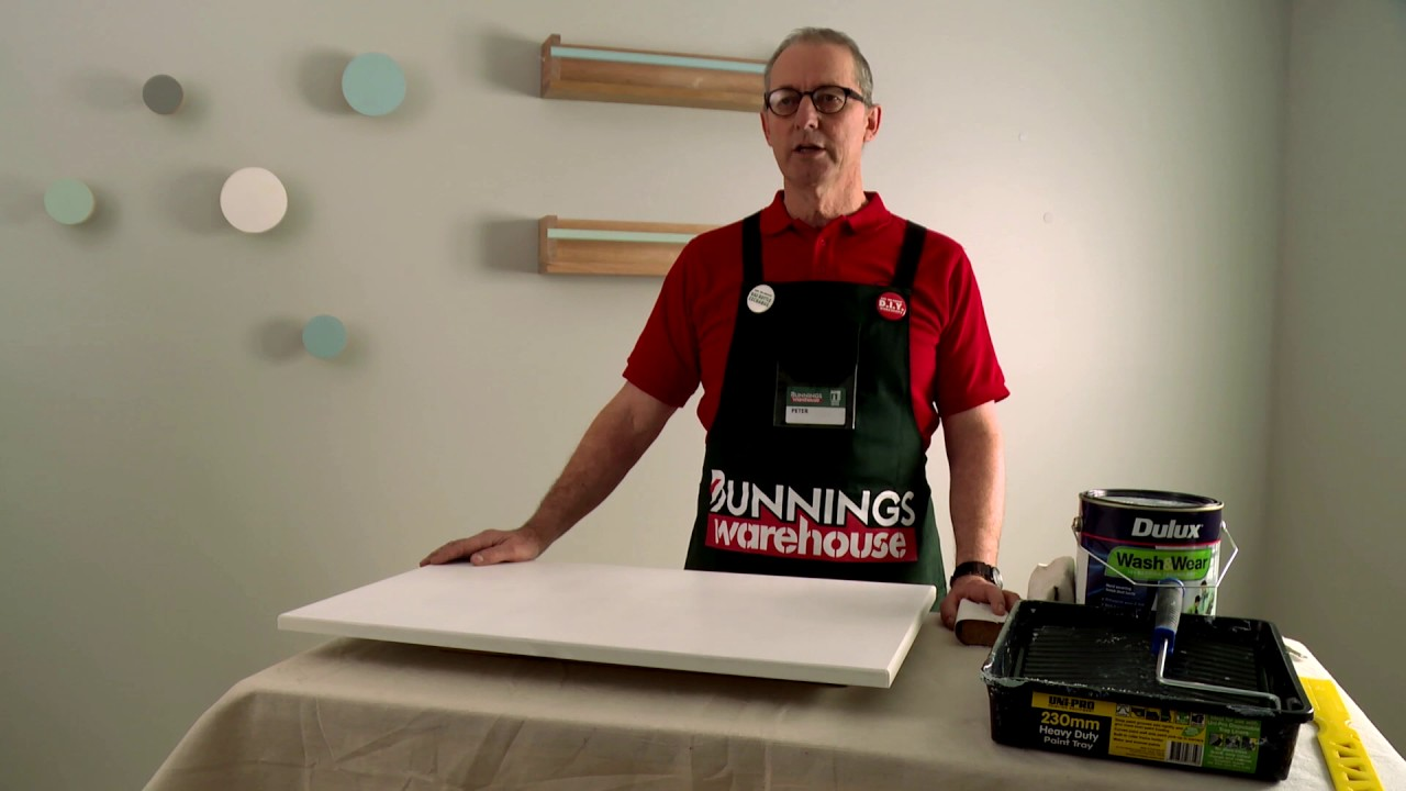 How To Paint A Cabinet Door D I Y At Bunnings Youtube