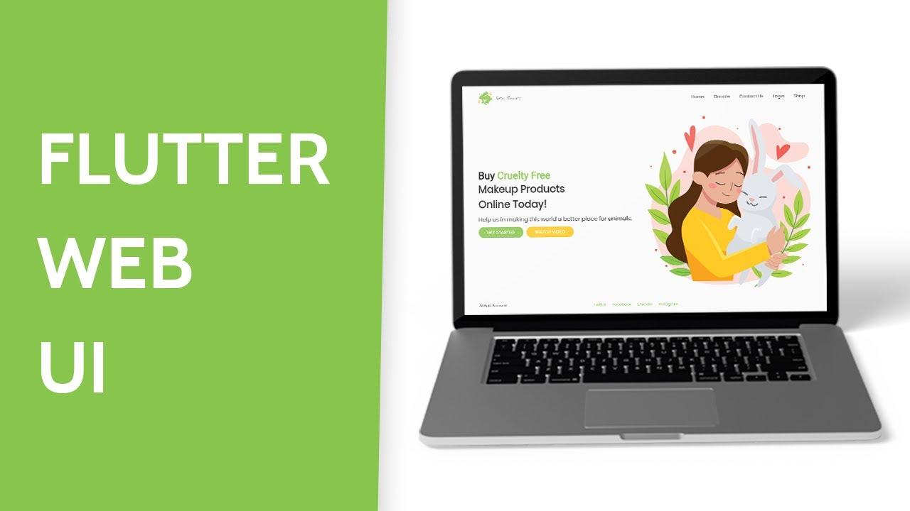 Flutter Web Landing Page UI | Speed Code