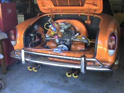 1971 Volkswagen Karmann Ghia Engine Start - YouTube