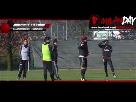 Milan training 11 january with jeremy Menez