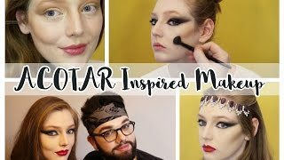 A Court of Thorns and Roses Inspired Makeup Looks ‣ Spring Court & Night Court // The Book Belle