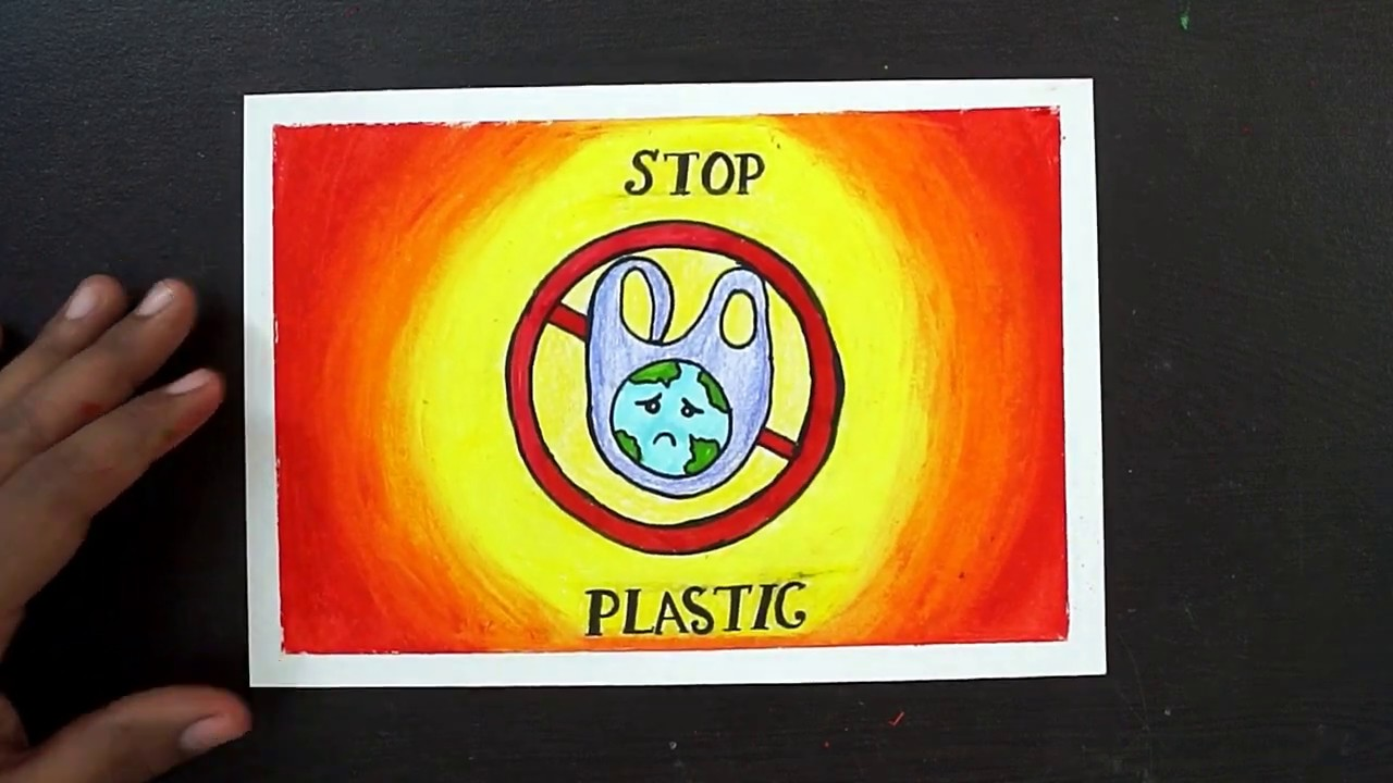 Art Drawing Stop Plastic Pollution