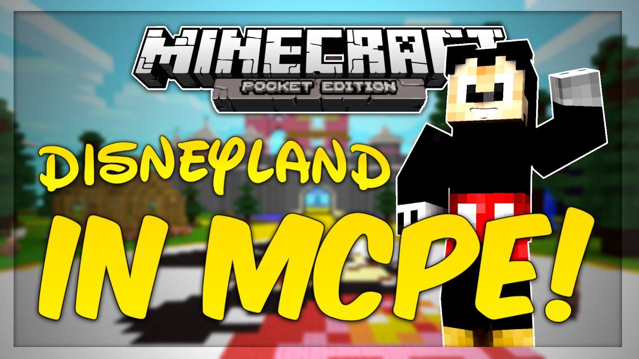 Disneyland Minecraft World Minecraft Pe Map Review Machinima Youtube