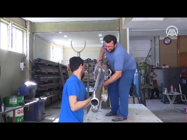 Karadenizli demir ustası: Küçük silah yapmak yasak olduğu için heykelini yaptım