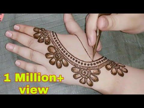 हाथ के लिए सबसे सुंदर सरल मेहंदी डिजाइन | न्यू मेहंदी डिजाइन वापस हाथ | मेंहदी डिजाइन