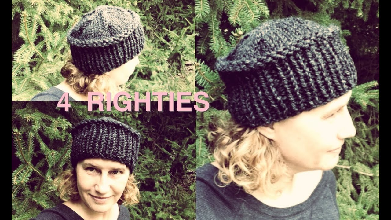 How 2 Knit Hat With Flat Top Fast Project 4 Righties