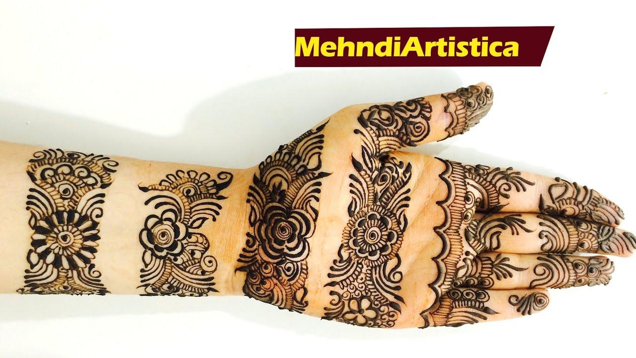 Mehndi Designs Churidar : Beautiful easy bangle style mehndi designs for full handslatest